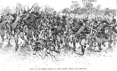 Union-Advance-Antietam-Cornfield