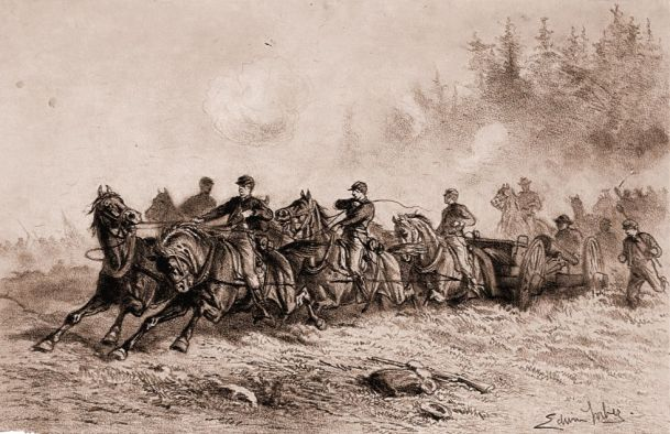 Horse-Drawn-Artillery-by-Edwin-Forbes