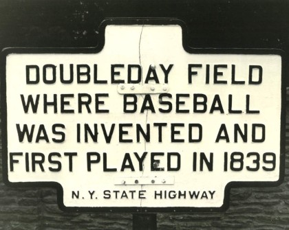 Doubleday Baseball sign (2)