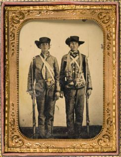 10 - 4th TX (Brothers, Privates Emzy Taylor (left) and G. M. Taylor, Company E)